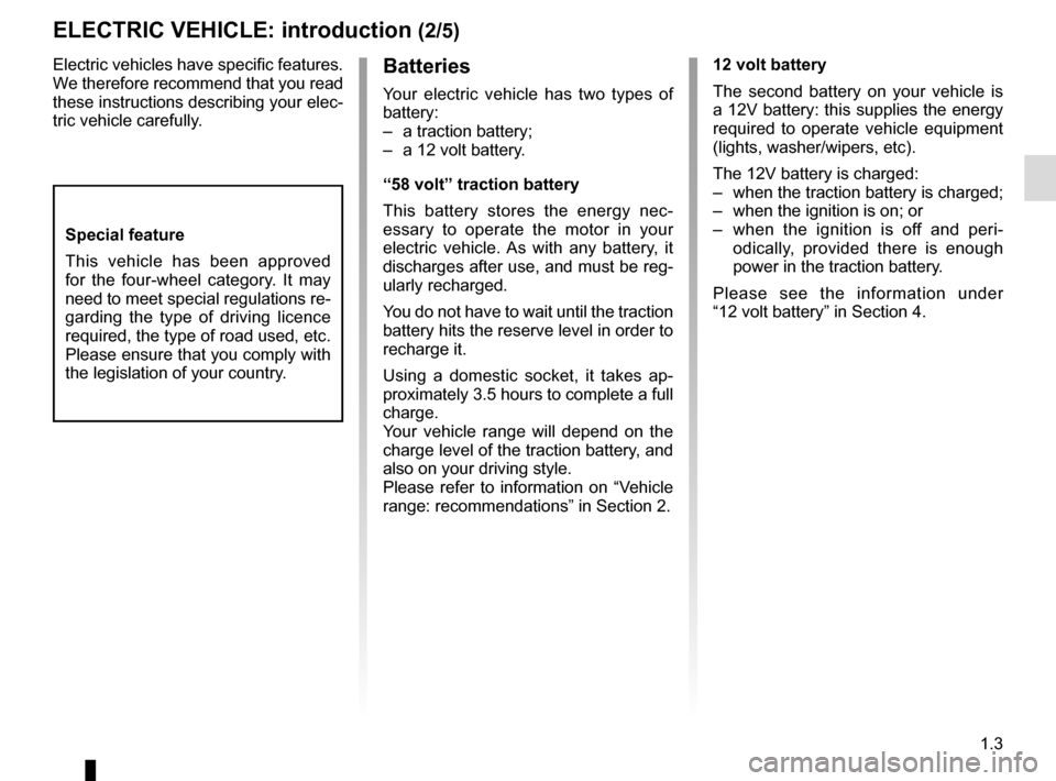 RENAULT TWIZY 2012 1.G Owners Manual, Page 9