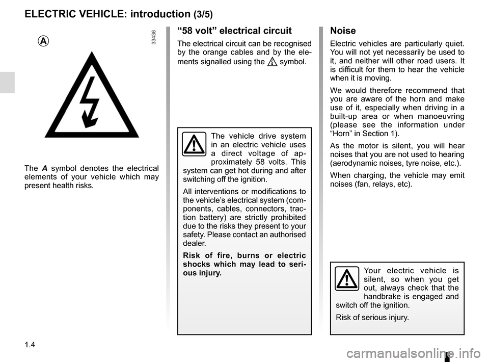 RENAULT TWIZY 2012 1.G Owners Manual, Page 10