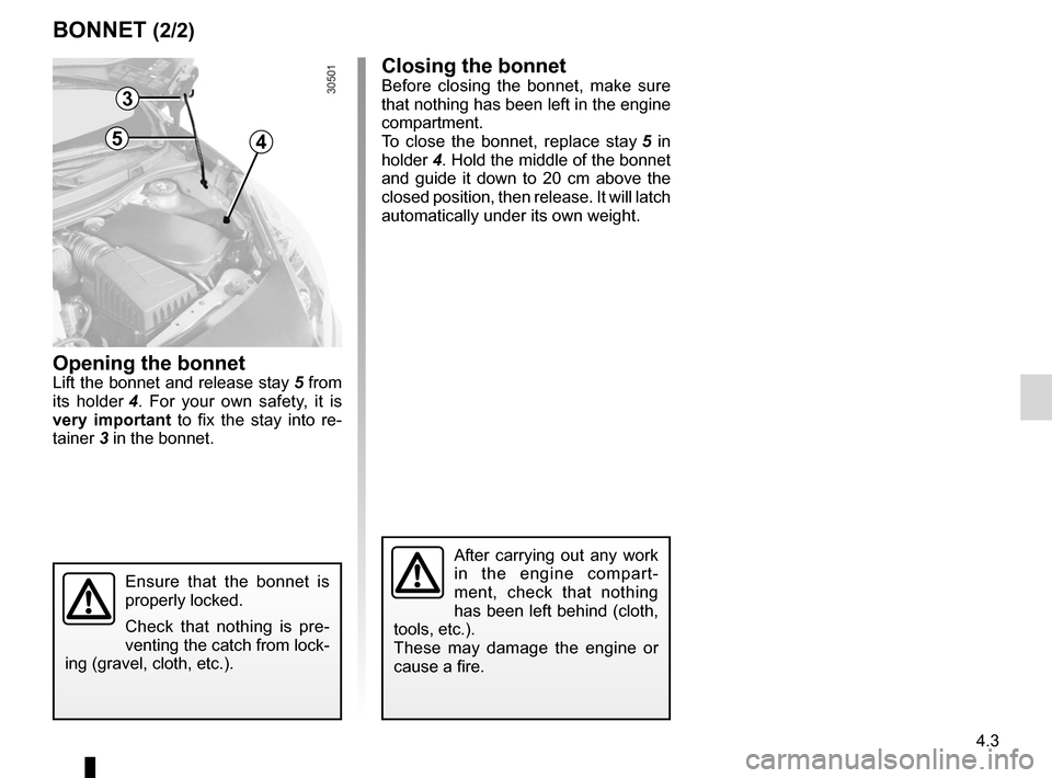 RENAULT WIND 2012 1.G Owners Manual, Page 113