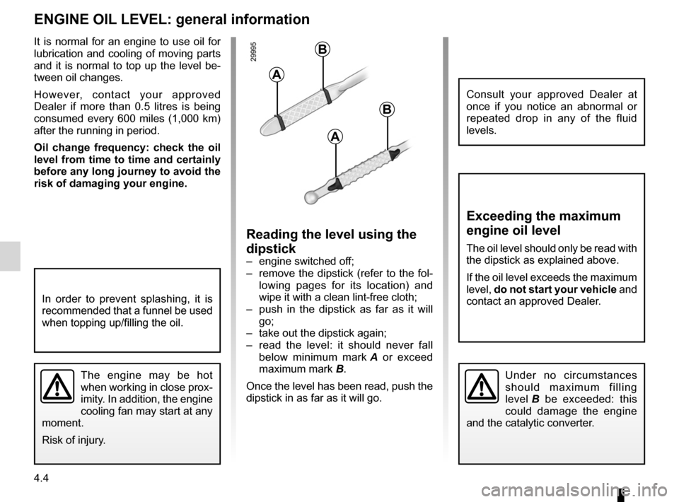 RENAULT WIND 2012 1.G Owners Manual, Page 114