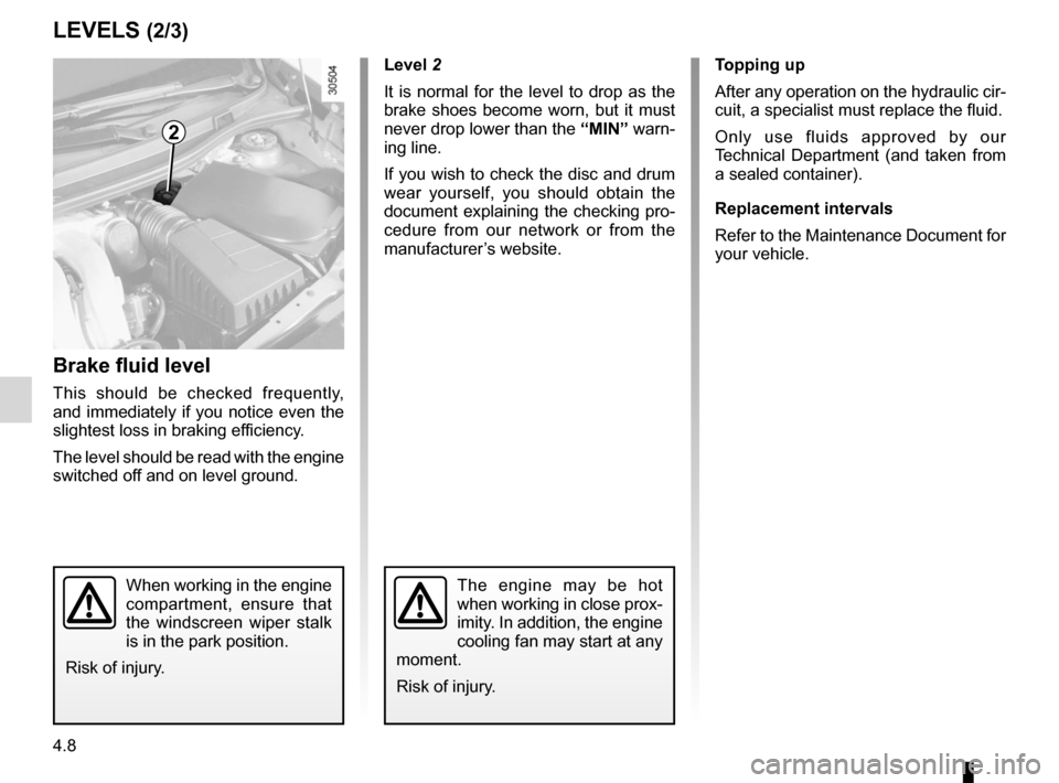 RENAULT WIND 2012 1.G Owners Manual, Page 118