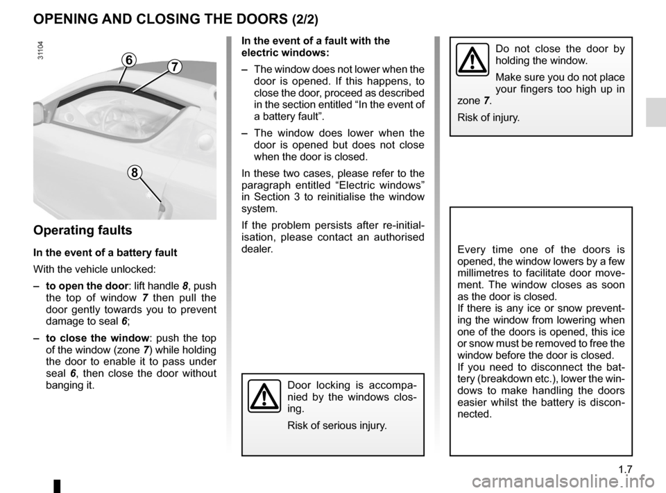 RENAULT WIND 2012 1.G Owners Manual, Page 13