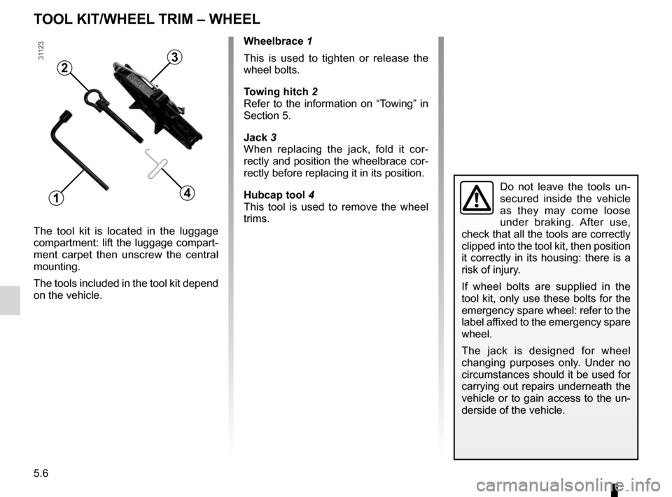 RENAULT WIND 2012 1.G Owners Manual, Page 132
