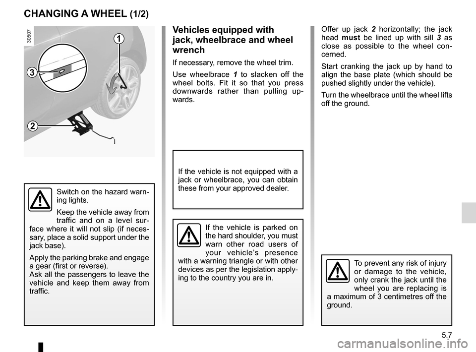 RENAULT WIND 2012 1.G Owners Manual, Page 133