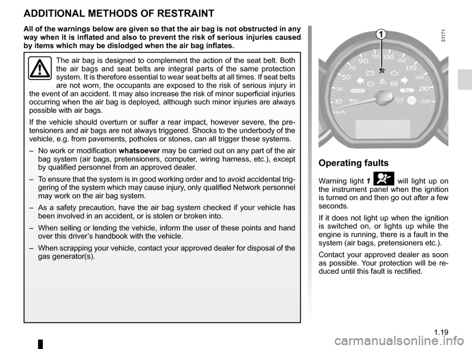 RENAULT WIND 2012 1.G Owners Manual, Page 25