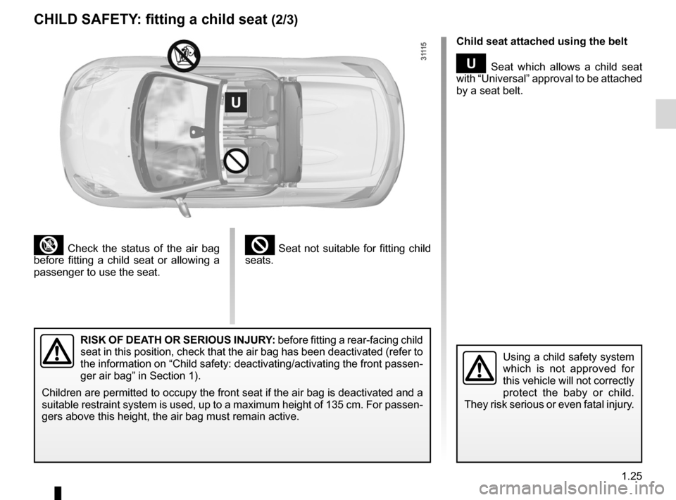RENAULT WIND 2012 1.G Owners Manual, Page 31