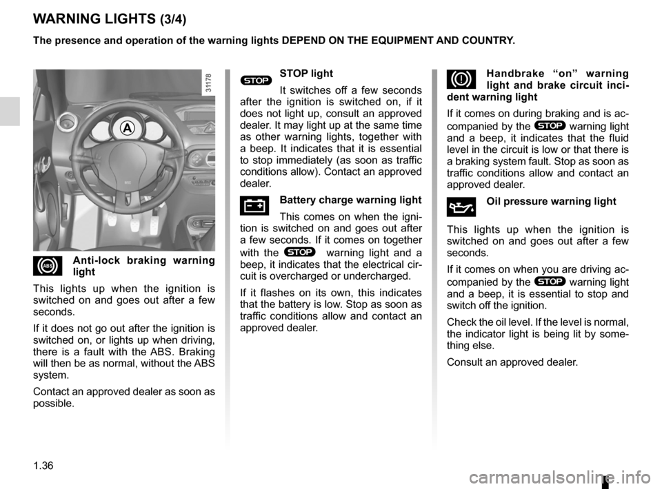 RENAULT WIND 2012 1.G Owners Manual, Page 42