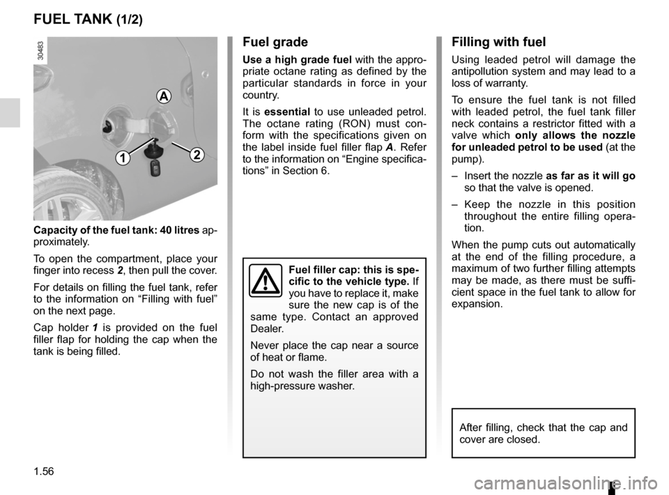 RENAULT WIND 2012 1.G Owners Manual, Page 62