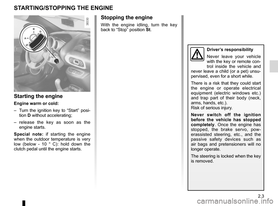 RENAULT WIND 2012 1.G Owners Manual, Page 67