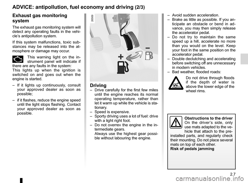 RENAULT WIND 2012 1.G Owners Manual, Page 71