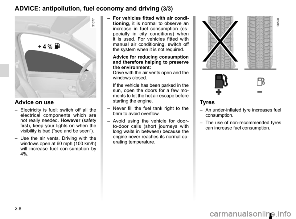 RENAULT WIND 2012 1.G Owners Manual, Page 72