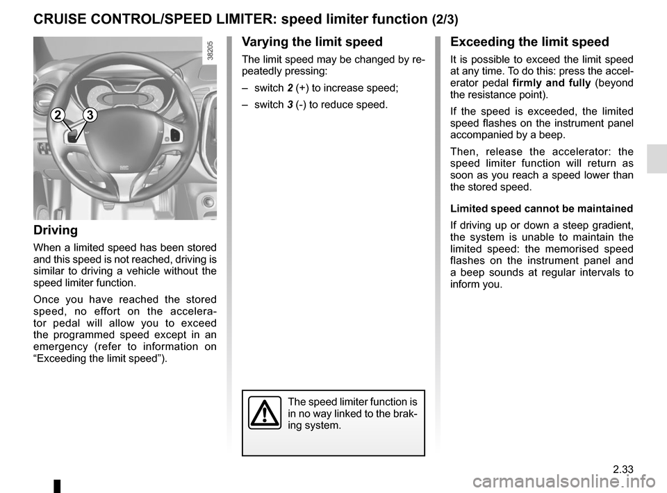 RENAULT CAPTUR 2014 1.G Owners Manual, Page 113