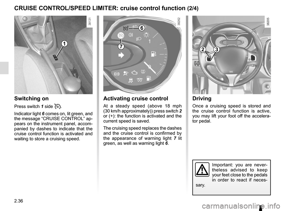 RENAULT CAPTUR 2014 1.G Owners Manual, Page 116