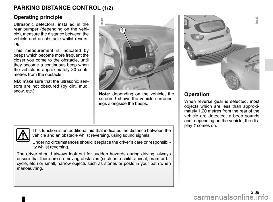 RENAULT CAPTUR 2014 1.G Owners Manual, Page 119