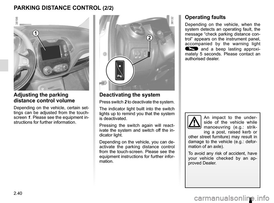RENAULT CAPTUR 2014 1.G Owners Manual, Page 120