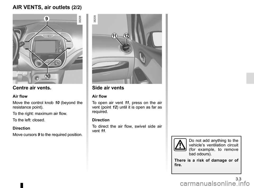 RENAULT CAPTUR 2014 1.G Owners Manual, Page 129