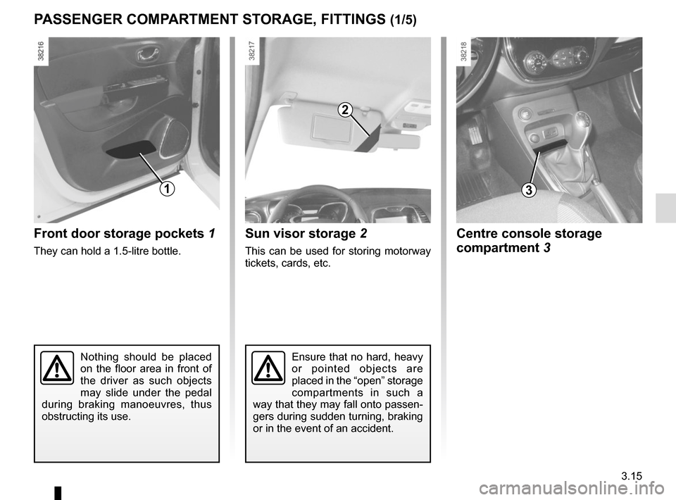 RENAULT CAPTUR 2014 1.G Owners Manual, Page 141