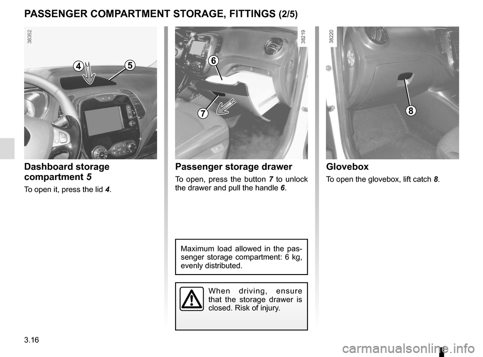 RENAULT CAPTUR 2014 1.G Owners Manual, Page 142