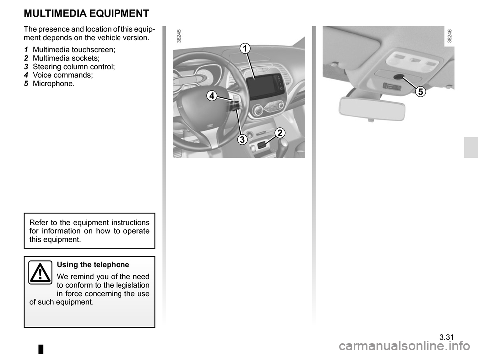 RENAULT CAPTUR 2014 1.G Owners Manual, Page 157