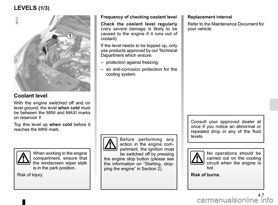 RENAULT CAPTUR 2014 1.G Owners Manual, Page 165