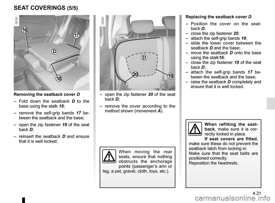 RENAULT CAPTUR 2014 1.G Owners Manual, Page 179