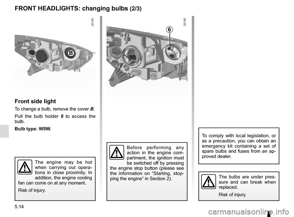 RENAULT CAPTUR 2014 1.G Owners Manual, Page 194