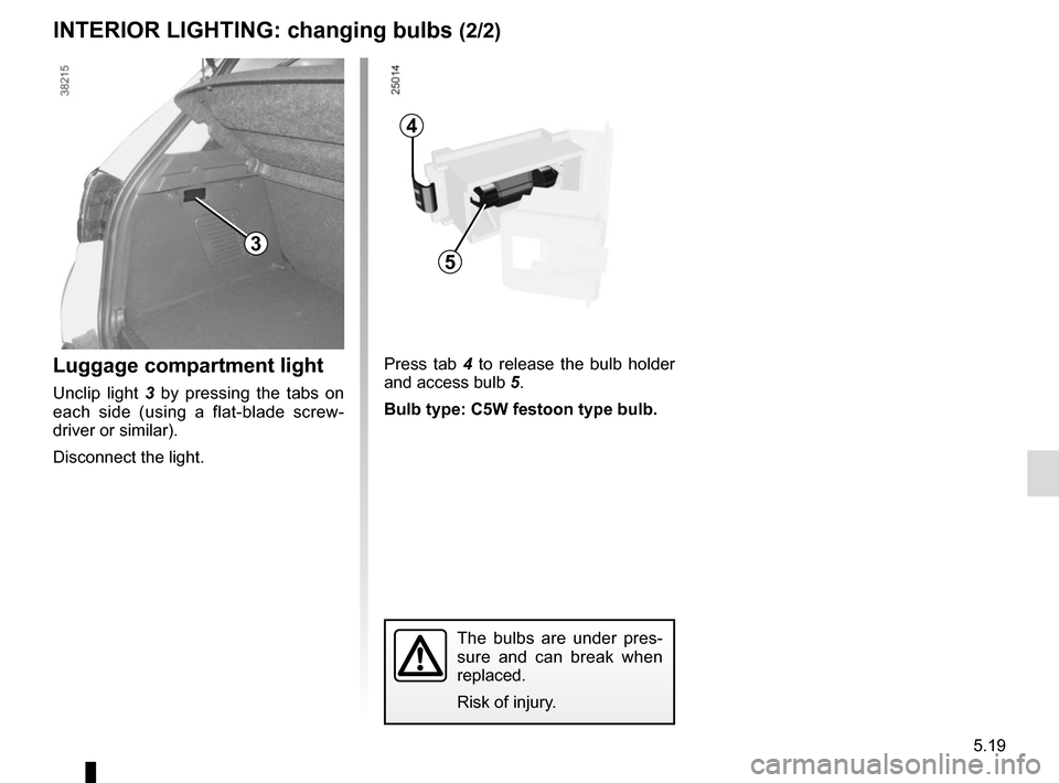 RENAULT CAPTUR 2014 1.G Owners Manual, Page 199