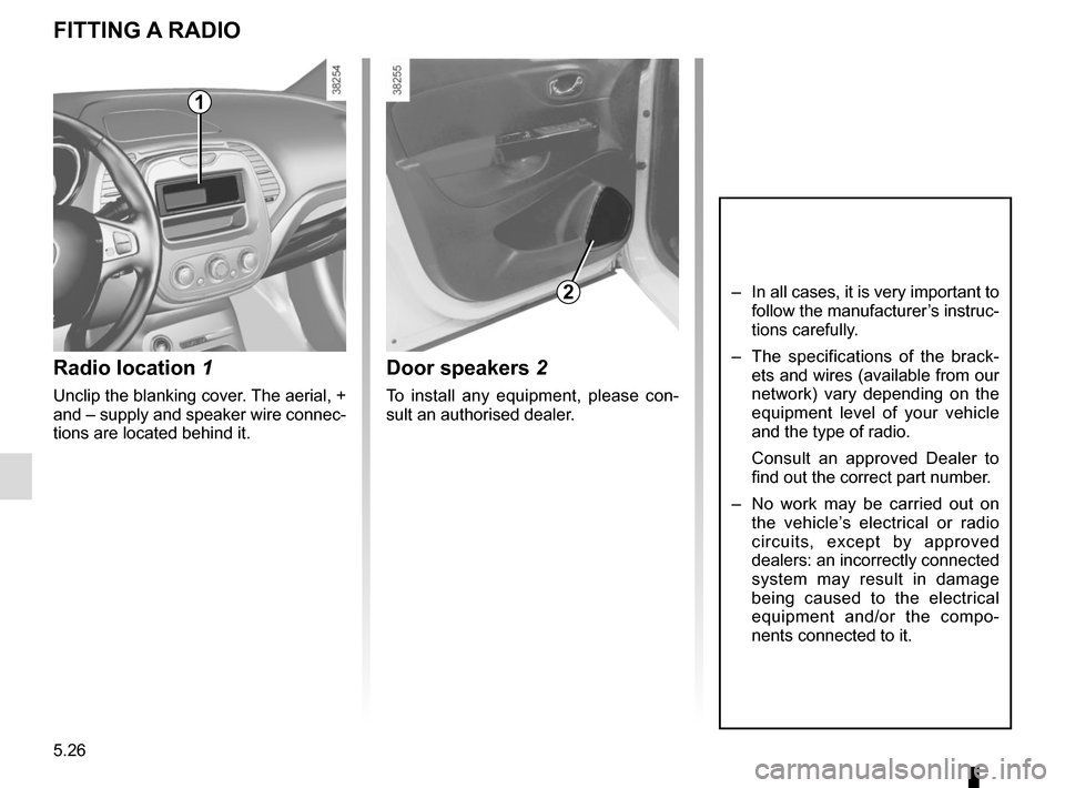 RENAULT CAPTUR 2014 1.G Owners Manual, Page 206