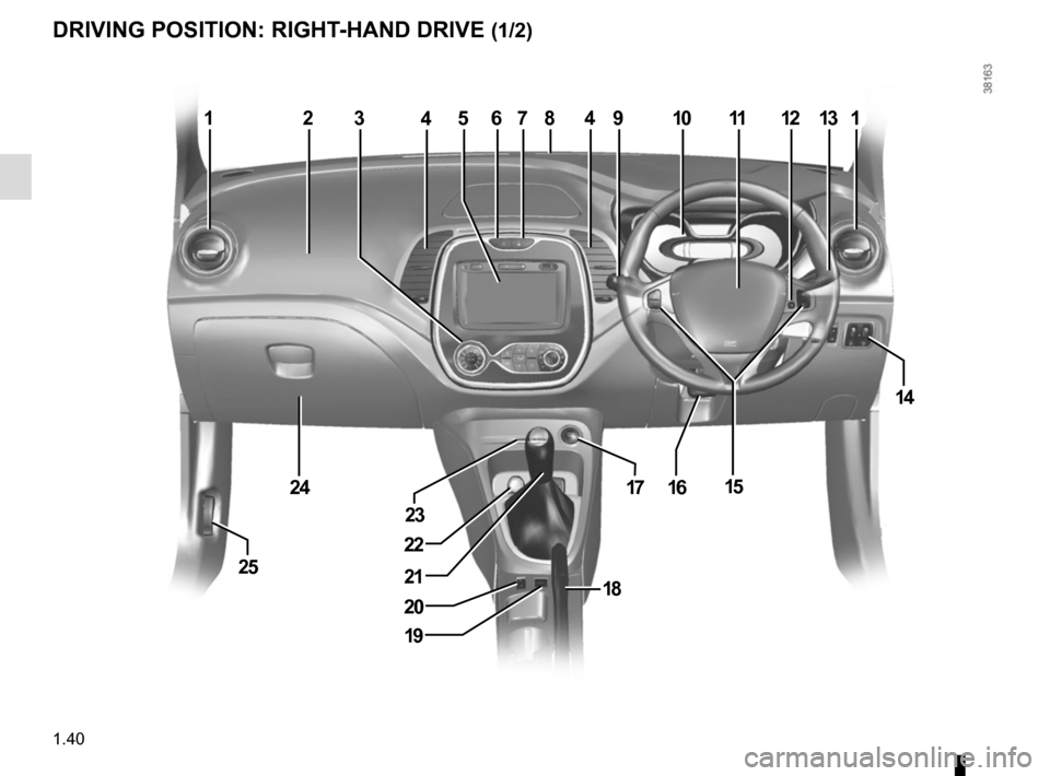 RENAULT CAPTUR 2014 1.G Owners Manual, Page 46