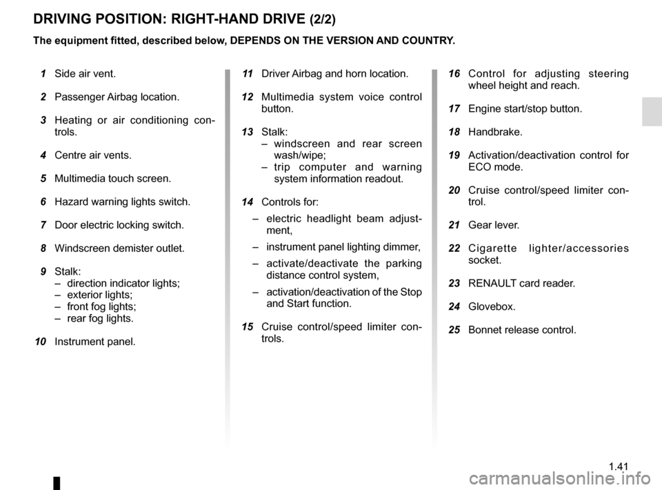 RENAULT CAPTUR 2014 1.G Owners Manual, Page 47