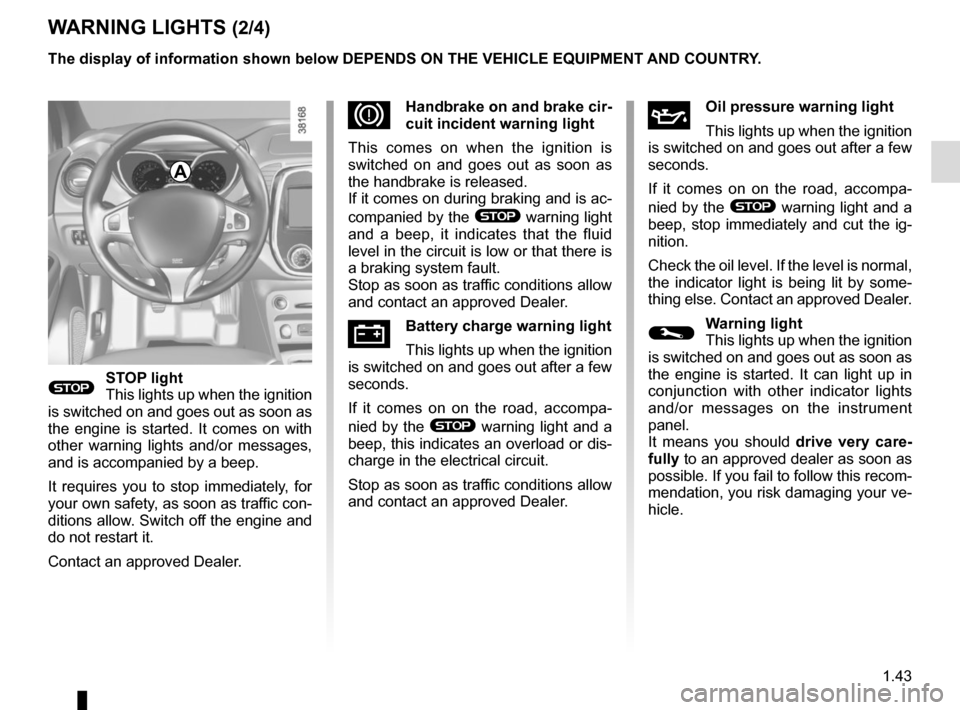 RENAULT CAPTUR 2014 1.G Owners Manual, Page 49