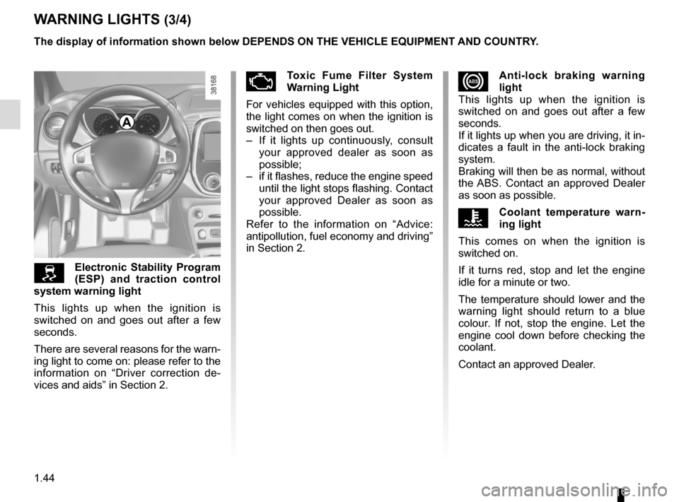 RENAULT CAPTUR 2014 1.G Owners Manual, Page 50
