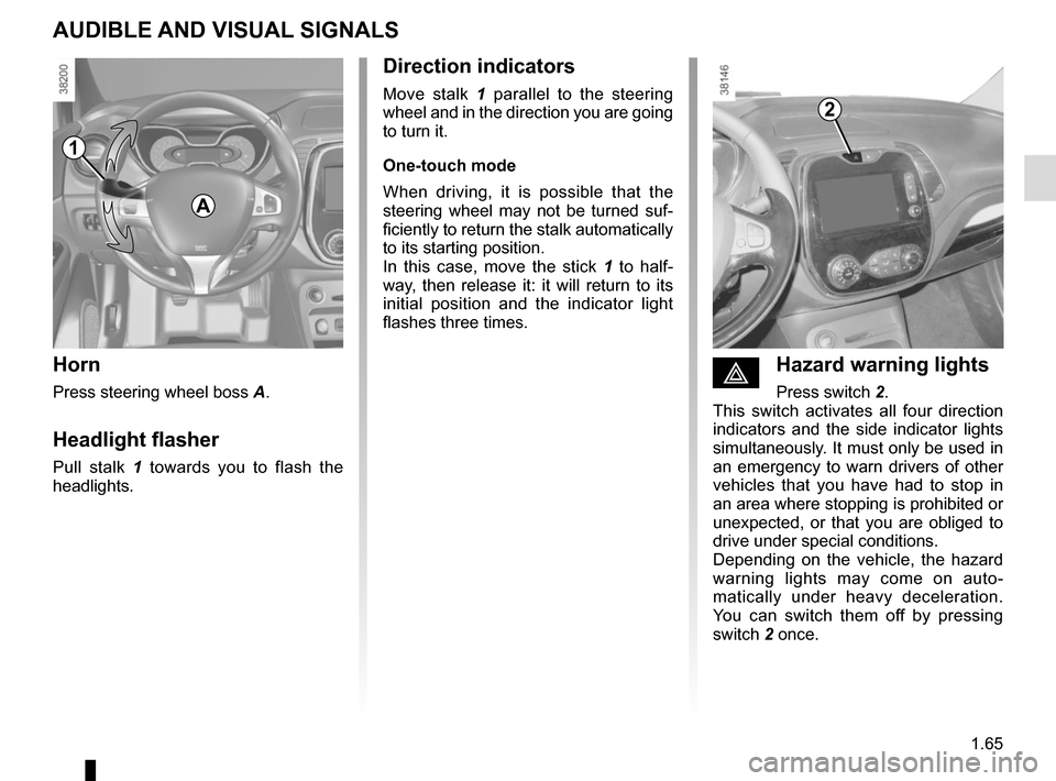 RENAULT CAPTUR 2014 1.G Owners Manual, Page 71