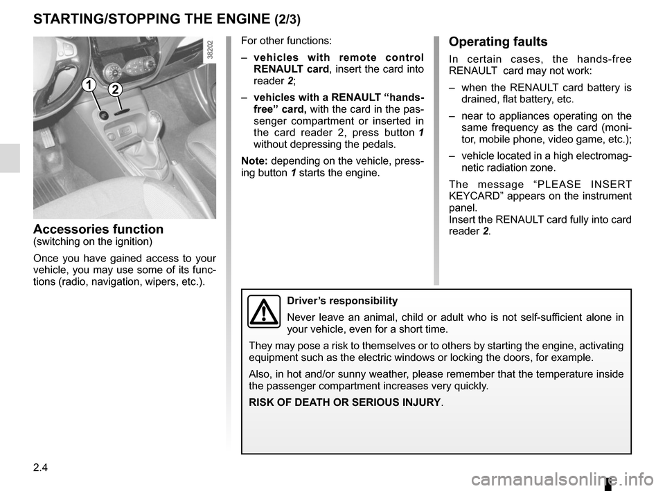 RENAULT CAPTUR 2014 1.G Owners Manual, Page 84