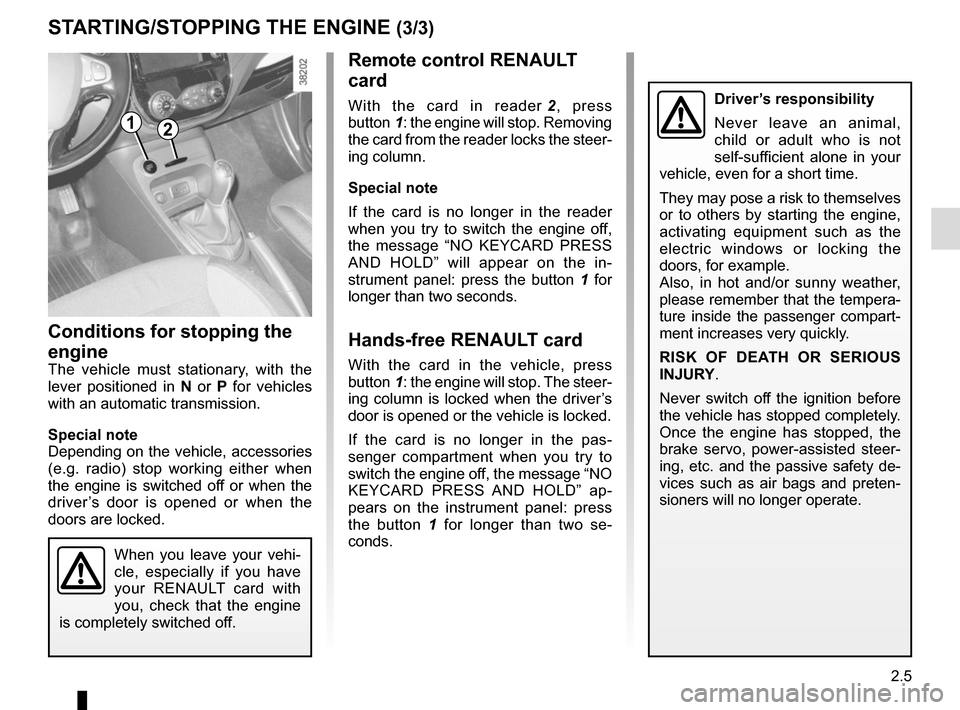 RENAULT CAPTUR 2014 1.G Owners Manual, Page 85