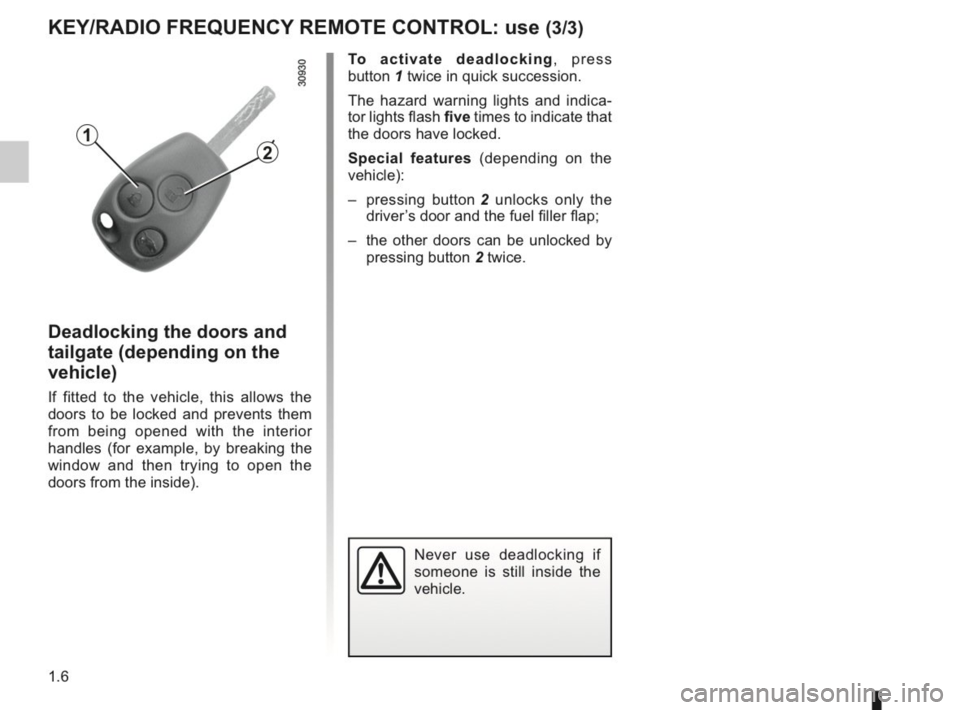 RENAULT KANGOO 2014 X61 / 2.G Owners Manual, Page 11
