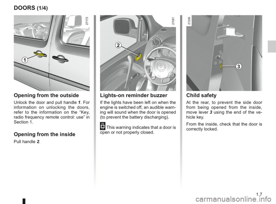 RENAULT KANGOO 2014 X61 / 2.G Owners Manual, Page 12
