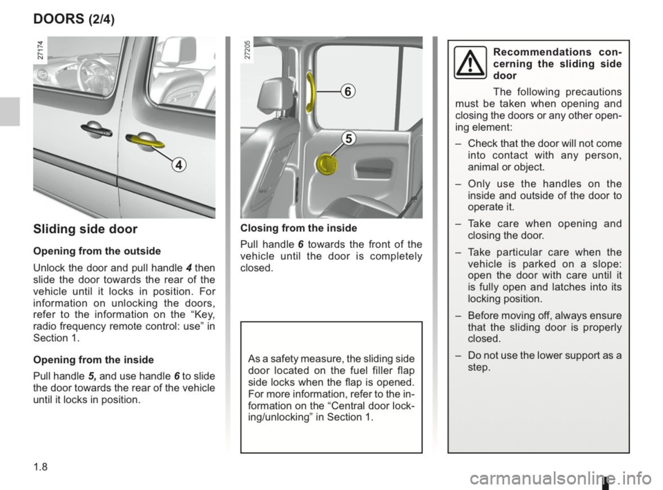 RENAULT KANGOO 2014 X61 / 2.G Owners Manual, Page 13