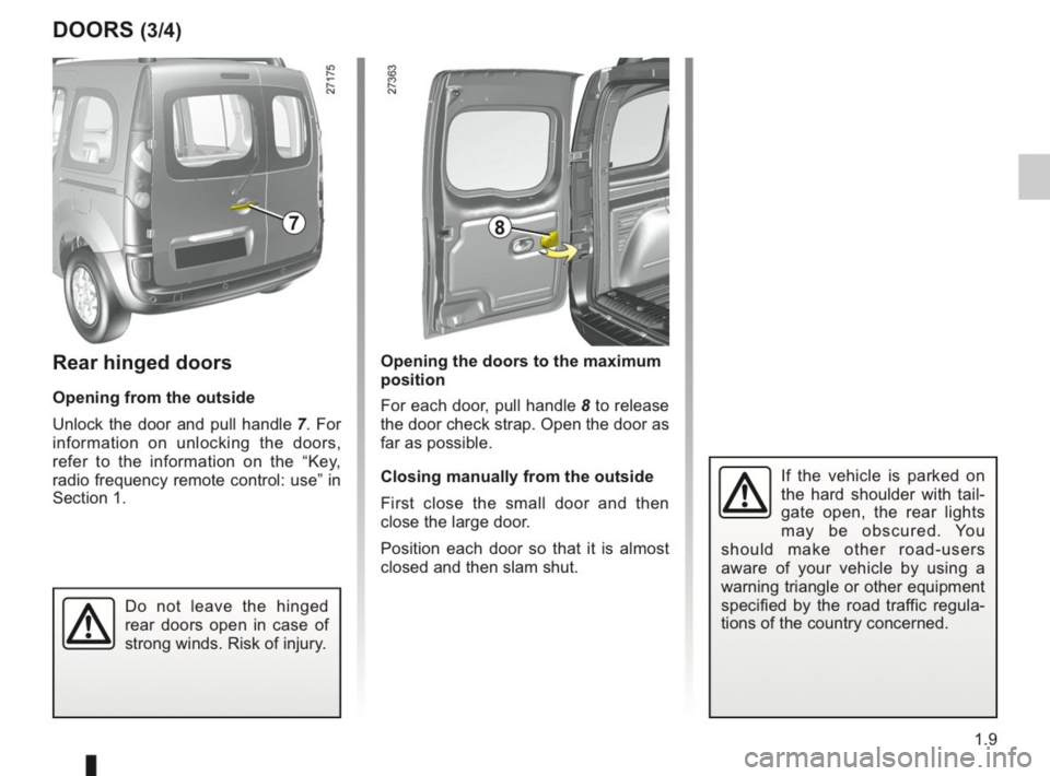 RENAULT KANGOO 2014 X61 / 2.G Owners Manual, Page 14