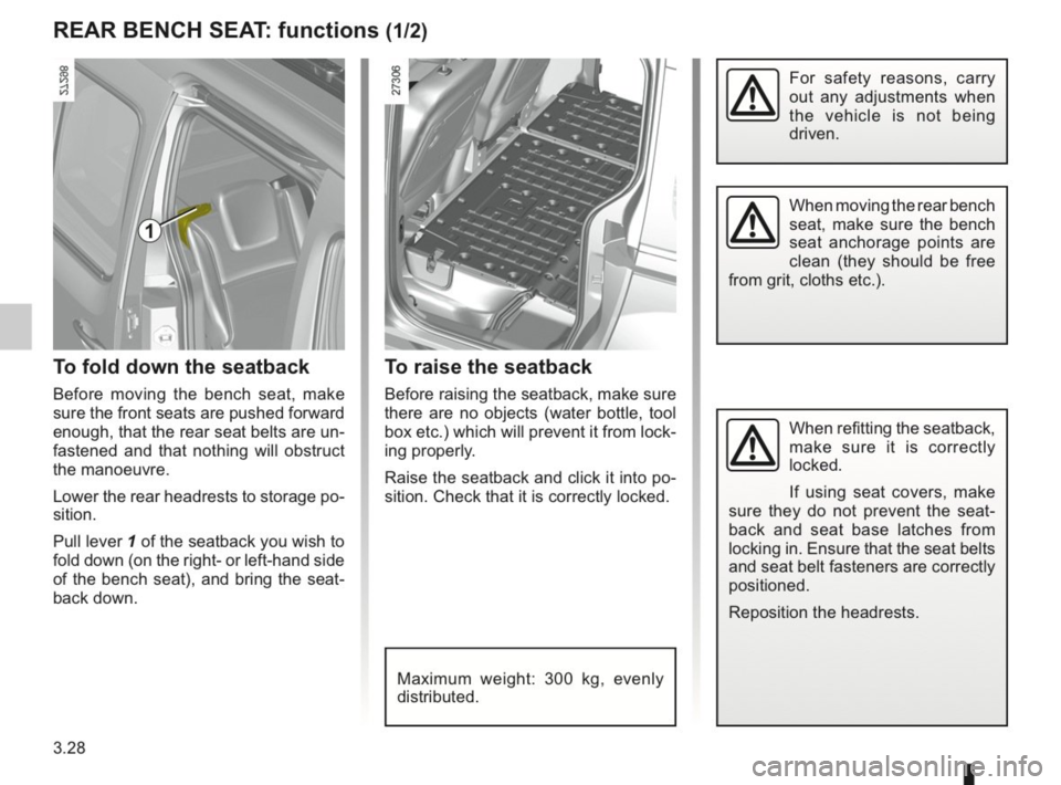 RENAULT KANGOO 2014 X61 / 2.G Owners Manual, Page 137