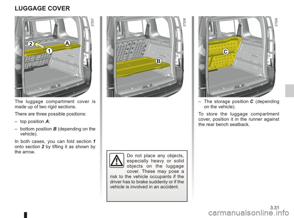 RENAULT KANGOO 2014 X61 / 2.G Owners Manual, Page 140