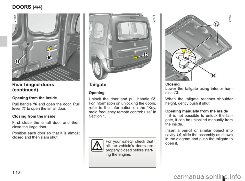 RENAULT KANGOO 2014 X61 / 2.G Owners Manual, Page 15