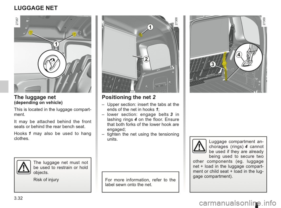 RENAULT KANGOO 2014 X61 / 2.G Owners Manual, Page 141