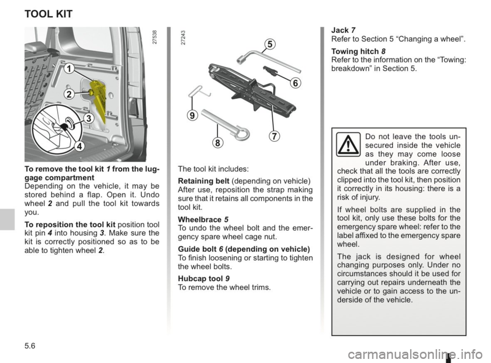 RENAULT KANGOO 2014 X61 / 2.G Owners Manual, Page 163