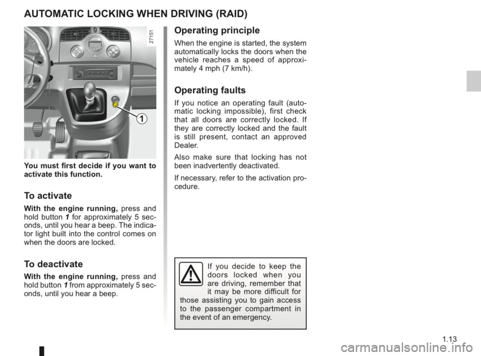 RENAULT KANGOO 2014 X61 / 2.G Owners Manual, Page 18