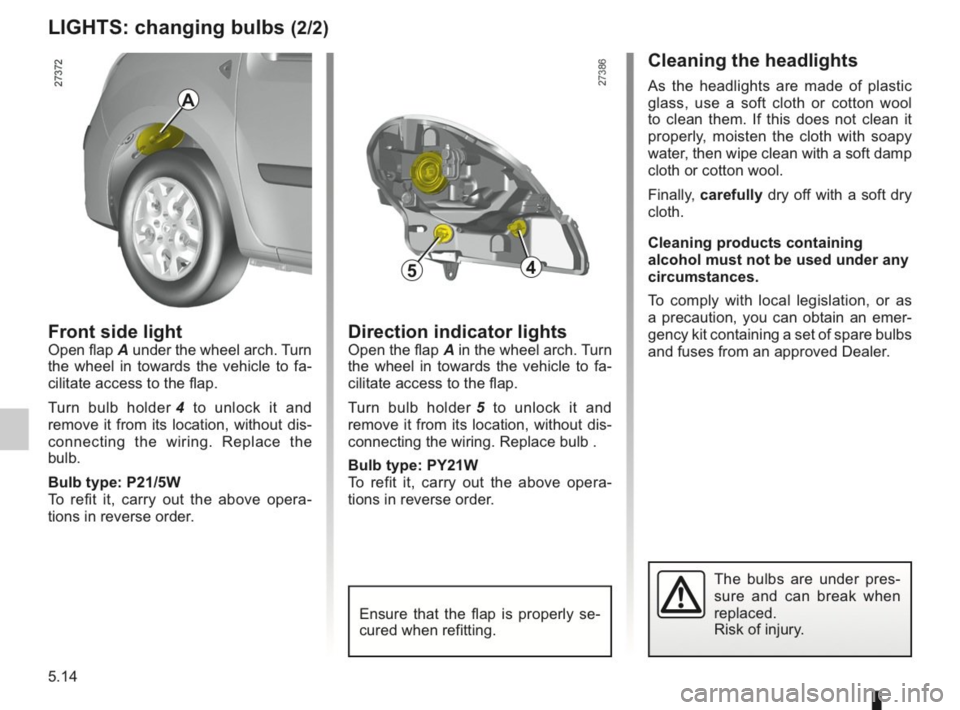 RENAULT KANGOO 2014 X61 / 2.G Owners Manual, Page 171