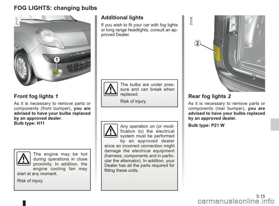 RENAULT KANGOO 2014 X61 / 2.G Owners Manual, Page 172