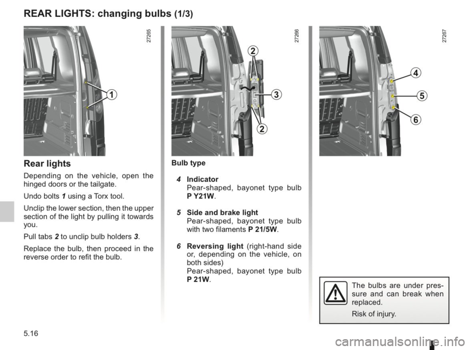 RENAULT KANGOO 2014 X61 / 2.G Owners Manual, Page 173
