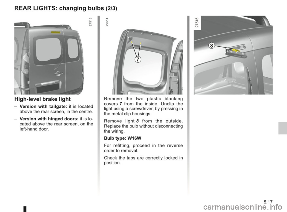 RENAULT KANGOO 2014 X61 / 2.G Owners Manual, Page 174