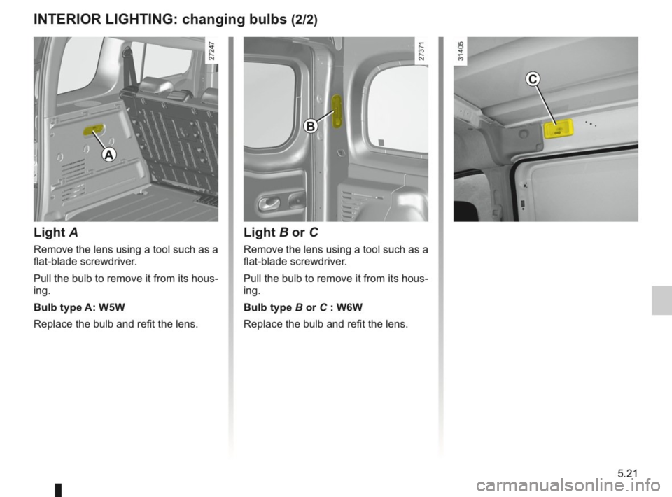 RENAULT KANGOO 2014 X61 / 2.G Owners Manual, Page 178